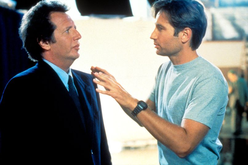 larry david 10 Years and 10 Questions with David Duchovny: On Garry Shandling, Bonnie Hunt, and Fighting for the Future