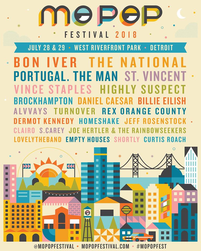 mo pop1 Mo Pop Festival 2018 lineup: Bon Iver, The National, St. Vincent lead the way