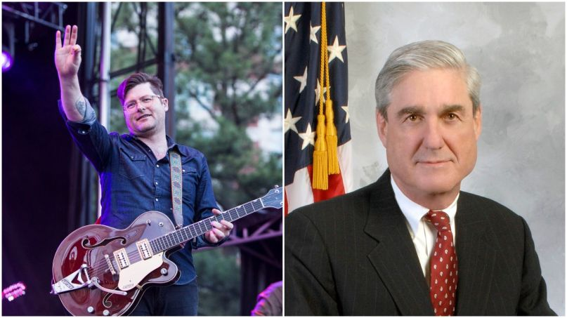 Colin Meloy of The Decemberists and Special Counsel Robert Mueller