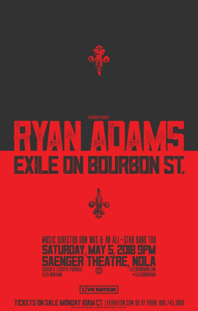 ryan adams exile Ryan Adams will cover Exile On Main St. at Rolling Stones tribute concert