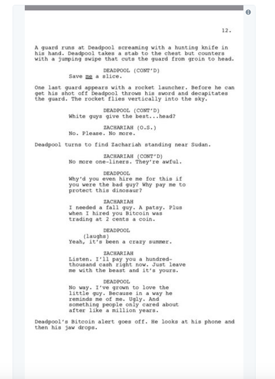 screen shot 2018 03 28 at 10 02 44 am Donald Glover shares script for finale to canceled Deadpool animated TV series