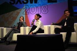 Evan Rachel Wood, Thandie Newton, and James Marsden // Westworld, photo by Heather Kaplan