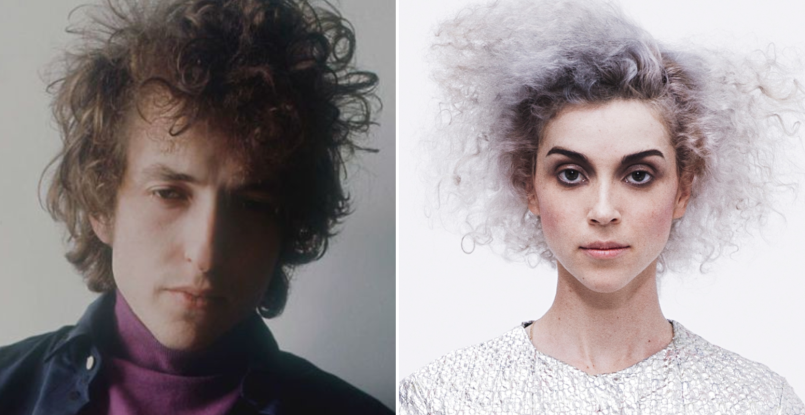 Bob Dylan (Jerry Schatzberg) and St Vincent