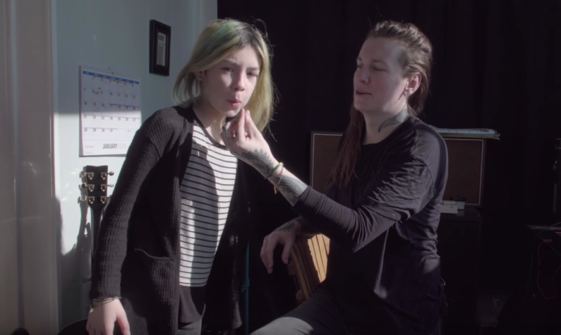 Laura Jane Grace and her daughter, Evelyn