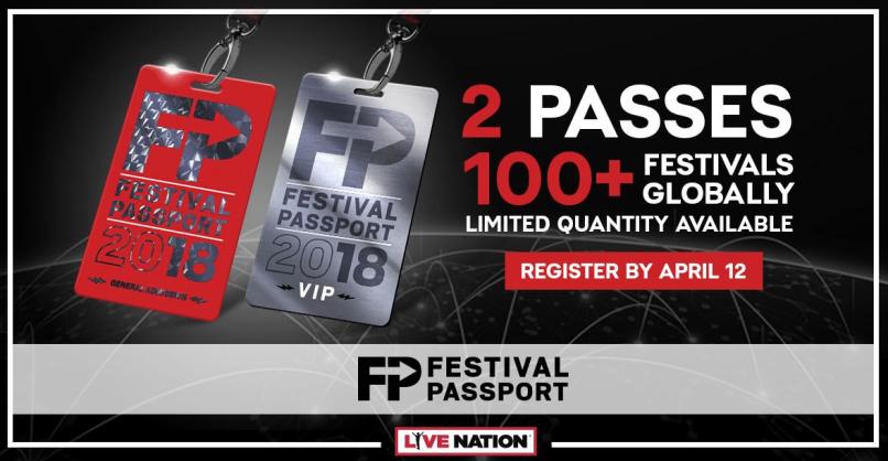 Live Nation Festival Passport 2018Live Nation Festival Passport 2018