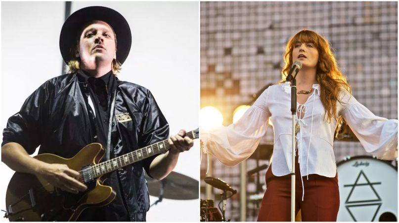 Arcade Fire and Florence Welch, photos by Philip Cosores and Robert Altman