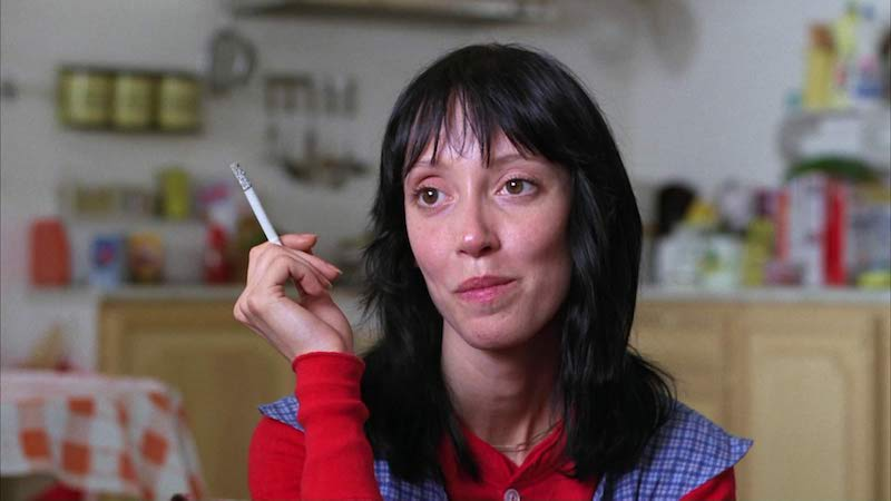 Shelley Duvall on the set of The Shining