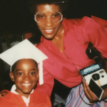 Andre 3000 with his mother