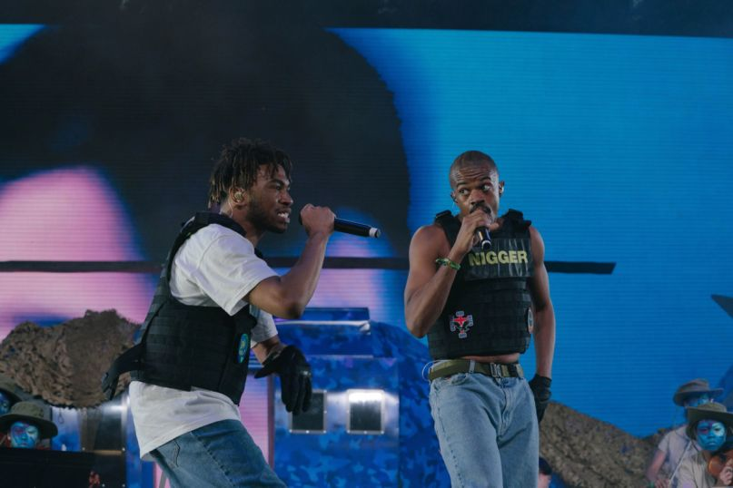 Brockhampton's Kevin Abstract and Ameer Vann, photo by Natalie Somekh