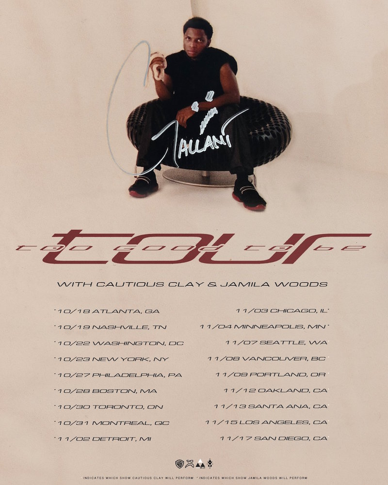 gallant jamila woods Gallant and Jamila Woods announce 2018 North American tour