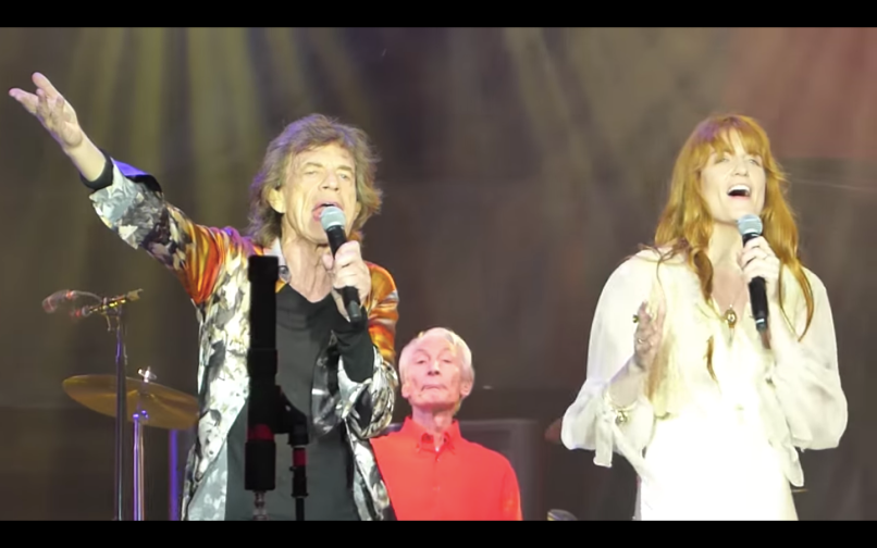 Florence Welch with The Rolling Stones