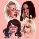 Rita Ora, Cardi B, Bebe Rexha, and Charli XCX -- Girls