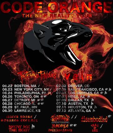 code orange new reality tour