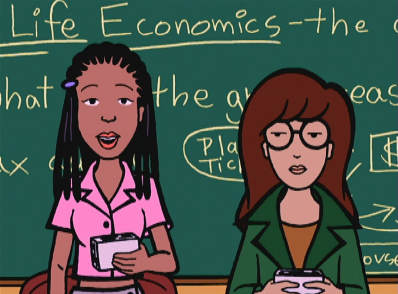 Daria and Jodie MTV Studios reboot Chalkboard cartoon