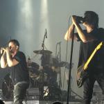 Nine Inch Nails with Gary Numan, photo via Instagram user missroseline