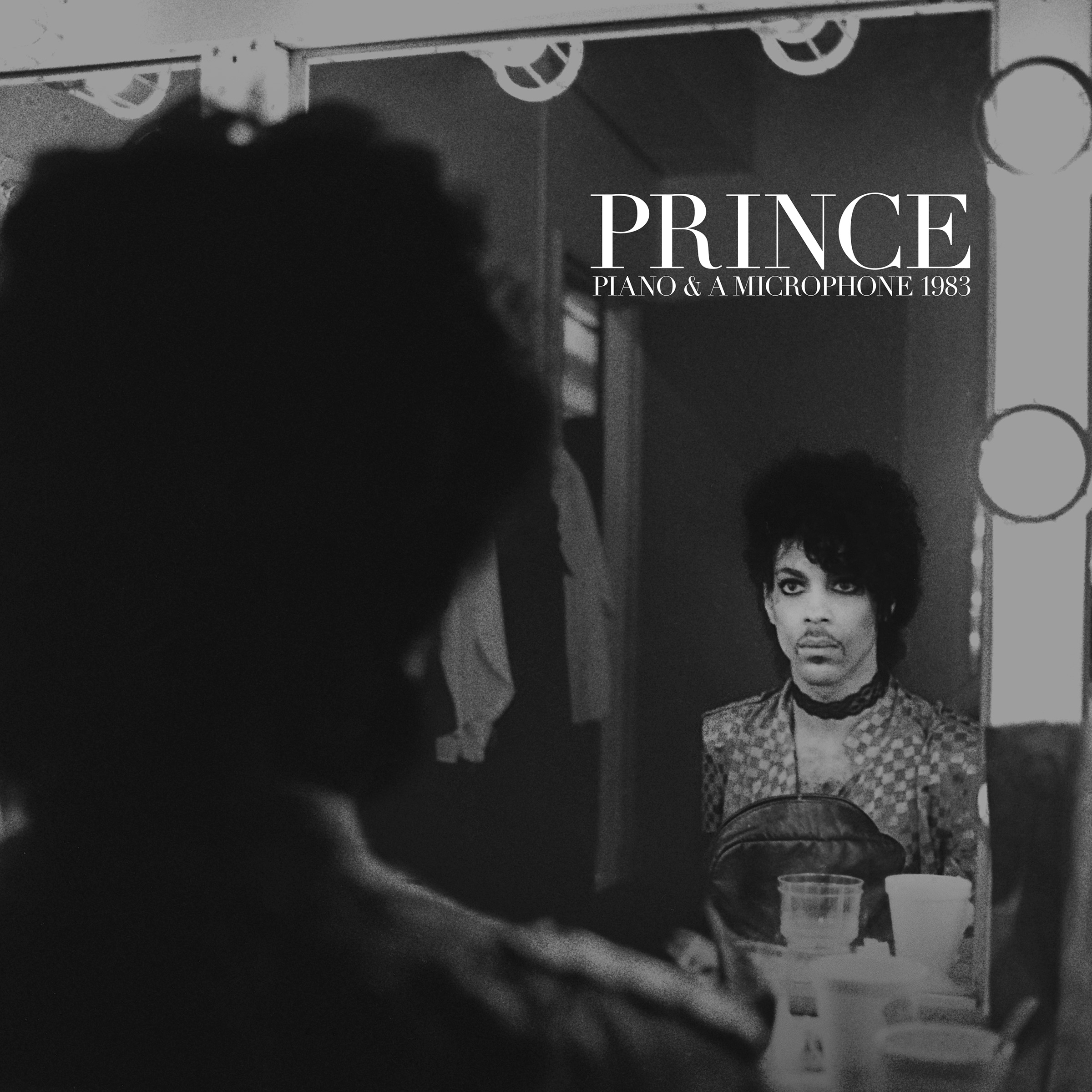 Prince Piano & A Microphone 1983 album cover art artwork black and white mirror