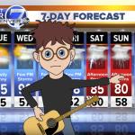 Ryan Adams Denver7 Piece of heaven colorado weather forecast cartoon animation