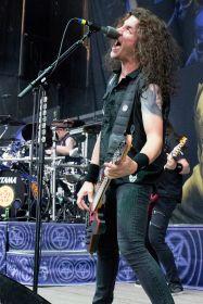 Anthrax's Frank Bello at Jones Beach July 29, 2018