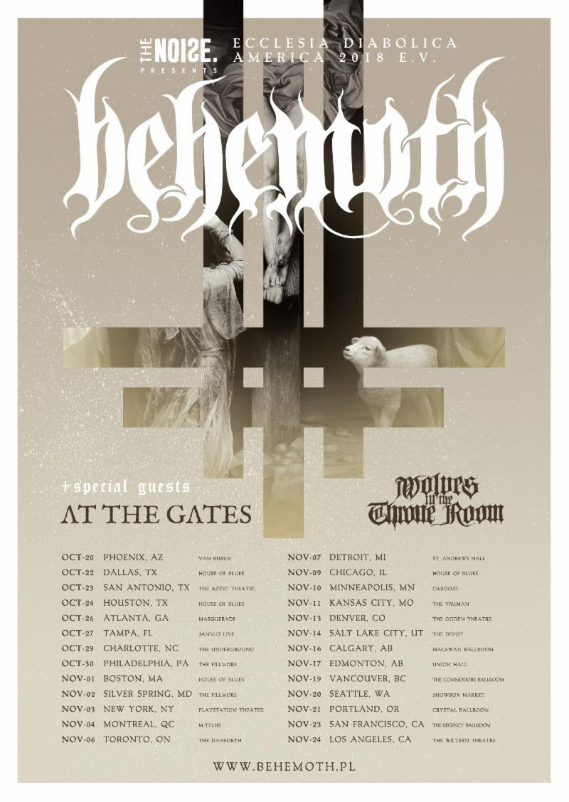 Behemoth Tour Poster