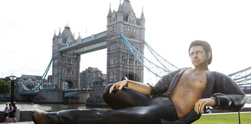 Jeff Goldblum statue London