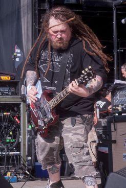 Napalm Death's John Cooke at Jones Beach July 29, 2018