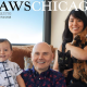 Billy Corgan's family on the cover of PAWS Chicago