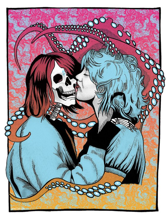 courtney kurt melvins poster This Melvins tour poster featuring Kurt Cobain and Courtney Love is a gorgeous, grotesque masterwork