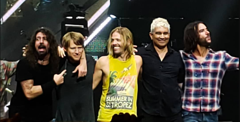 Foo Fighters with Chris Chaney, photo via Instagram