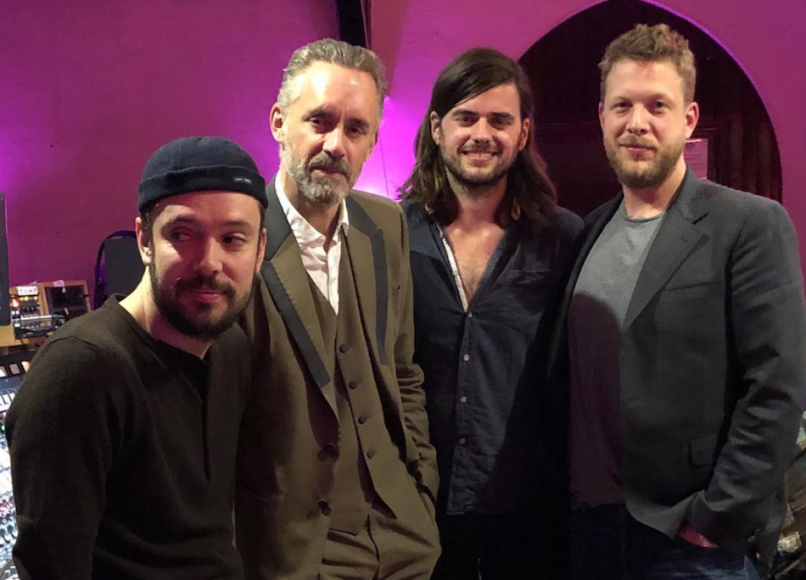 Jordan Peterson Mumford and Sons in studio