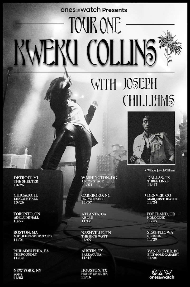 kwekucollins tourone finalposter Kweku Collins lets loose new song ET: Stream