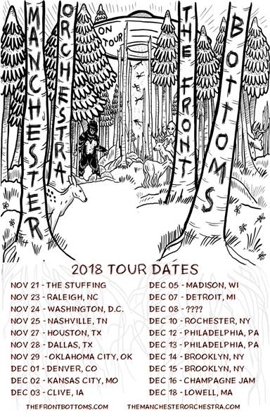 mancheseter orchestra the fonrt bottoms co-headlining tour dates poster