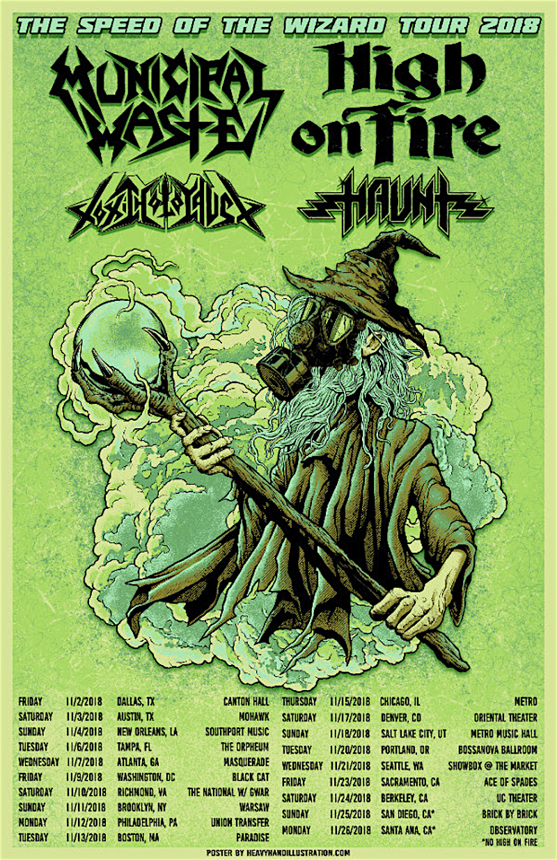 Municipal Waste and High on Fire Tour Poster