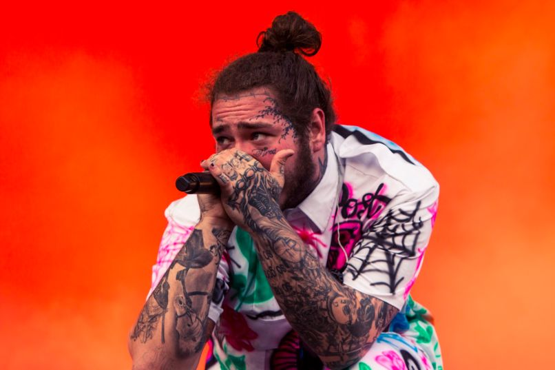 Post Malone, Lollapalooza 2018, photo by Caroline Daniel