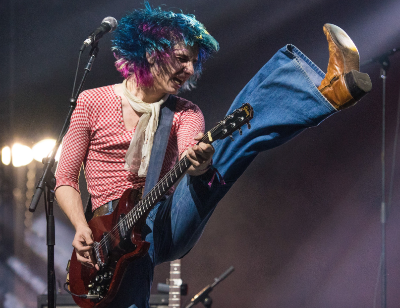 The Lemon Twigs David Brendan Hall The Fire Bonnaroo High Kick Colored Hair
