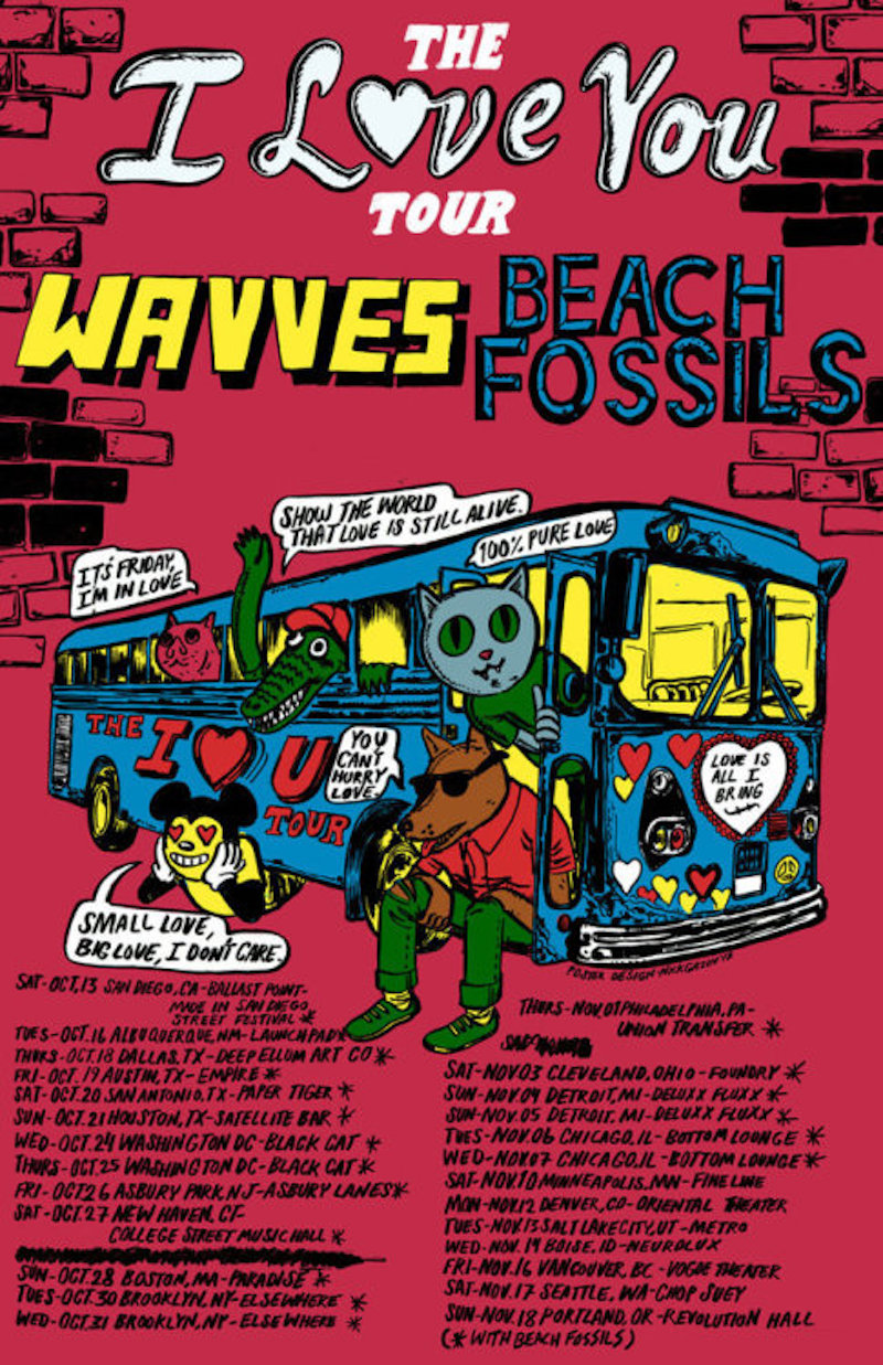 wavves beach fossils 2018 tour dates Wavves announce co headlining tour with Beach Fossils