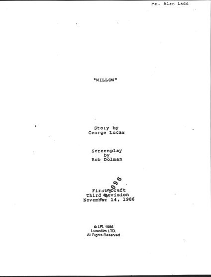 Willow early script