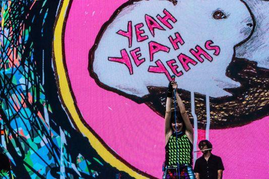 Yeah Yeah Yeahs, Osheaga 2018, photo by Lior Phillips