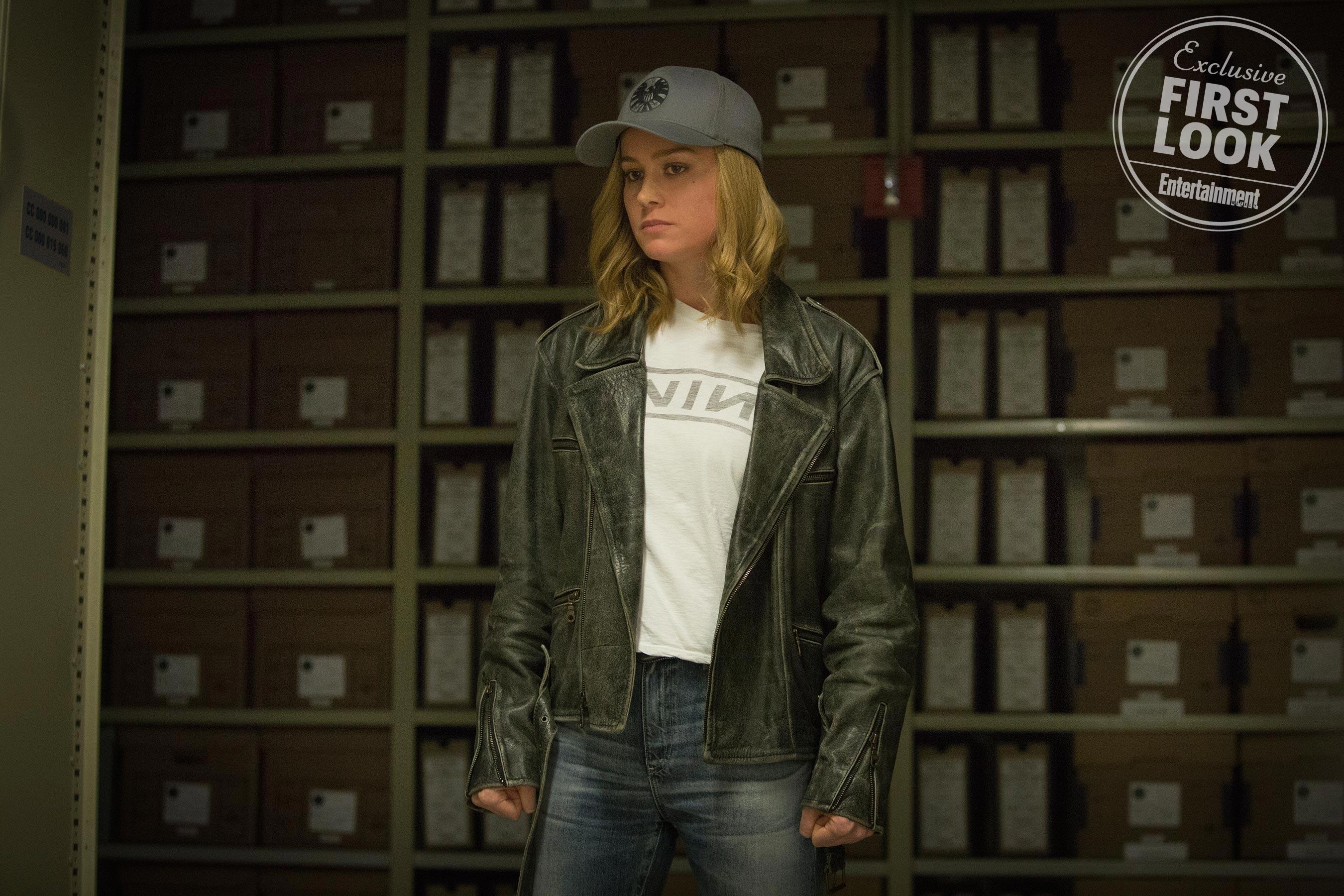 Marvel Studios' CAPTAIN MARVELCarol Danvers/Captain Marvel (Brie Larson) nine inch nails shield