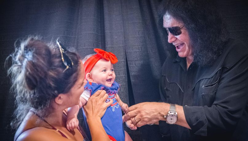 Gene Simmons Meets a Baby