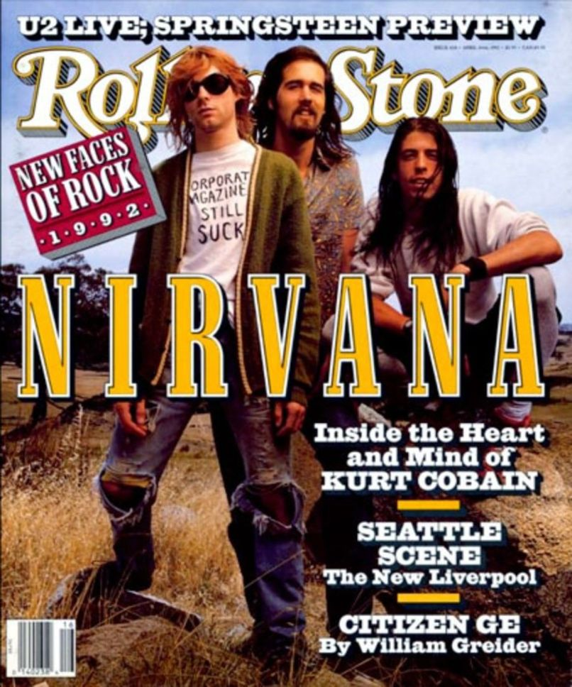 Nirvana on Rolling Stone 1992, photo by mark Seliger