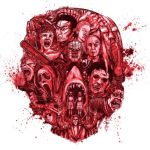 100 Scariest Movies of All Time, artwork by Cap Blackard