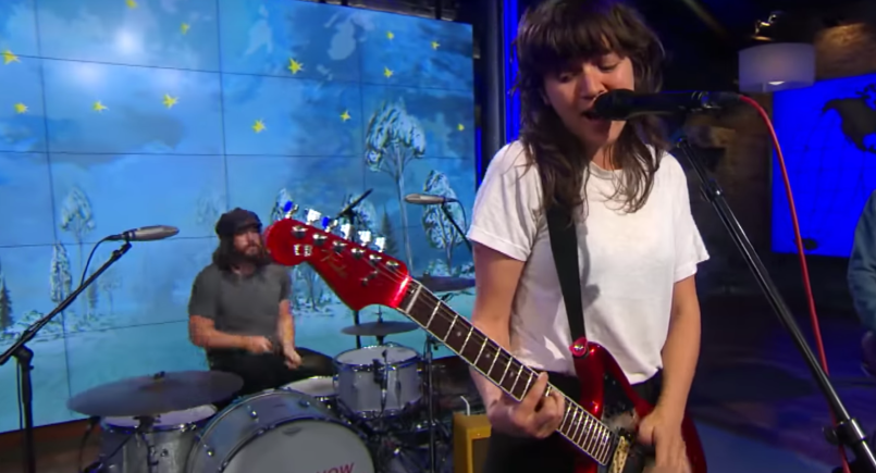 Courtney Barnett performs on CBS This Morning