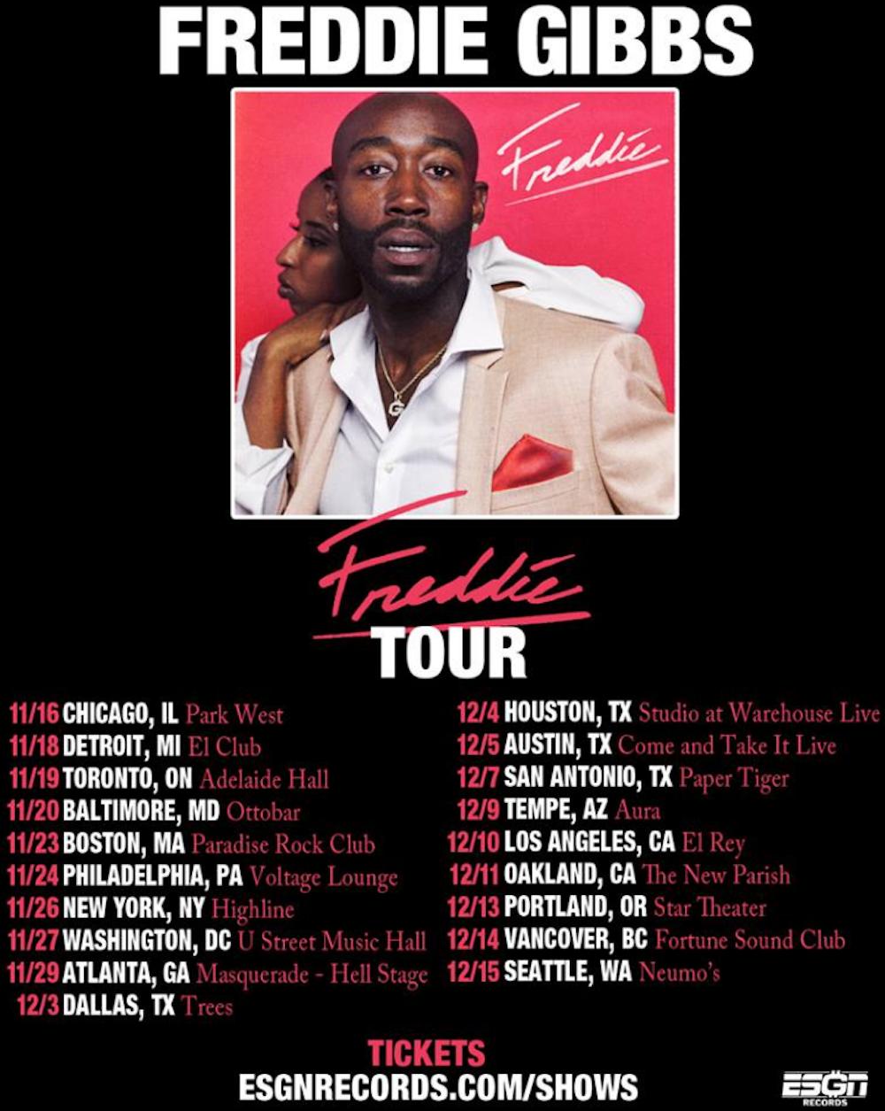 freddie gibbs 2018 tour dates Freddie Gibbs announces North American Freddie Tour