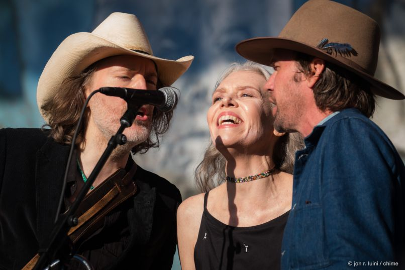 Gillian Welch, David Rawlings, and Willie Watson (Photo by Jon R. Luini)
