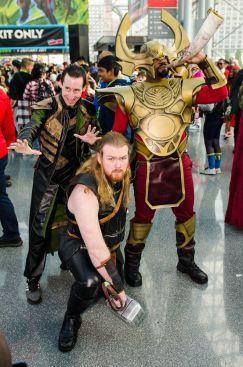 Loki Thor Heimdall New York Comic Con 2018 Ben Kaye-60