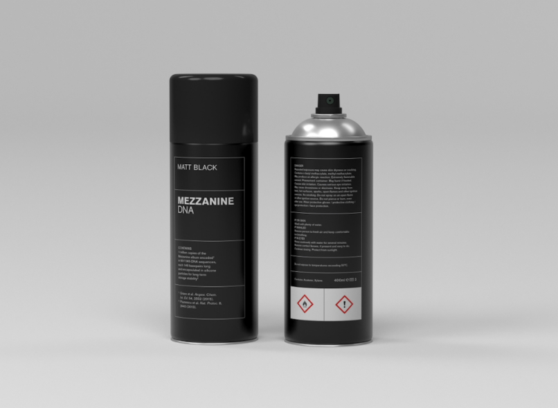 Massive Attack's Mezzanine as spray paint