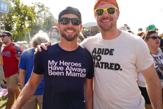 Political Fans, Austin City Limits 2018, photo by Amy Price
