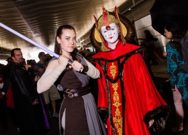 Rey and Queen Padme Amidala New York Comic Con 2018 Ben Kaye-40
