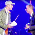 Chad Smith performs with Chris Martin