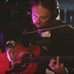 Thom Yorke performing at BBC Radio